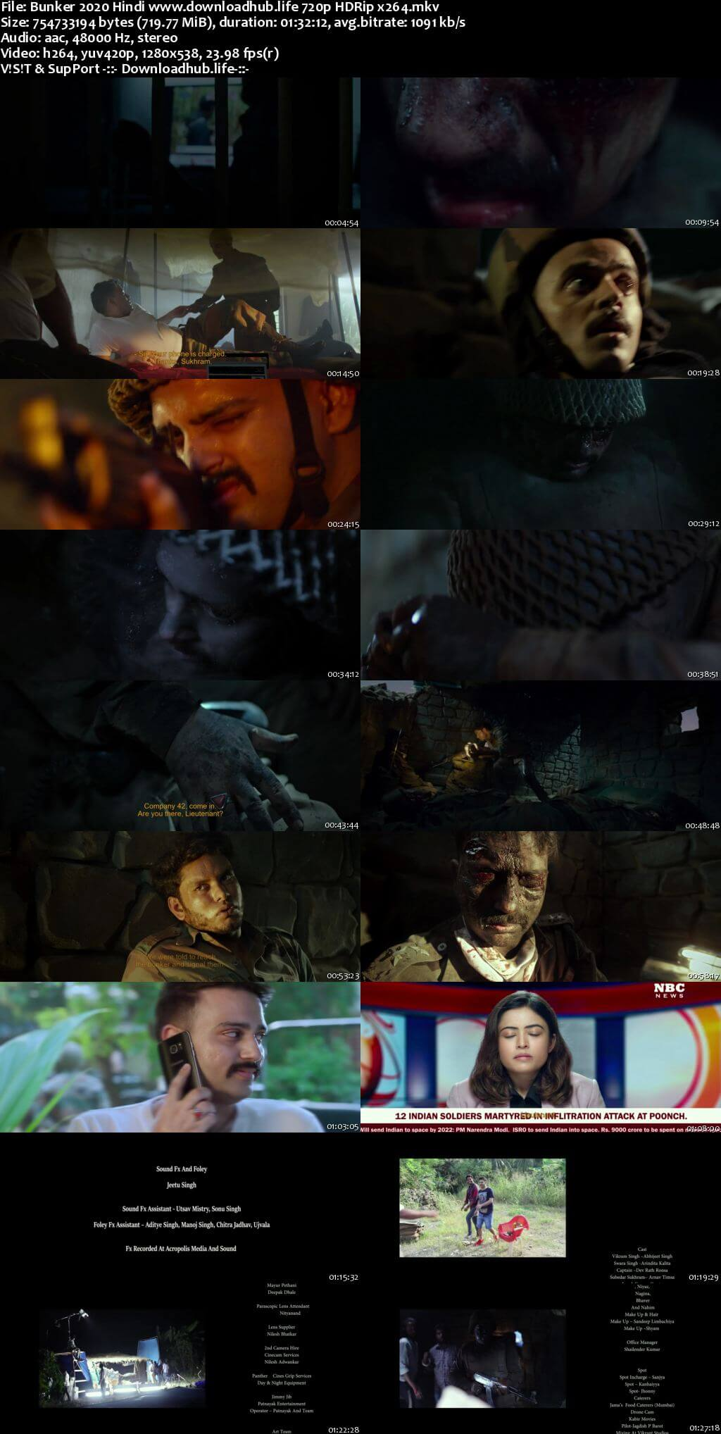 Bunker 2020 Hindi 720p HDRip x264
