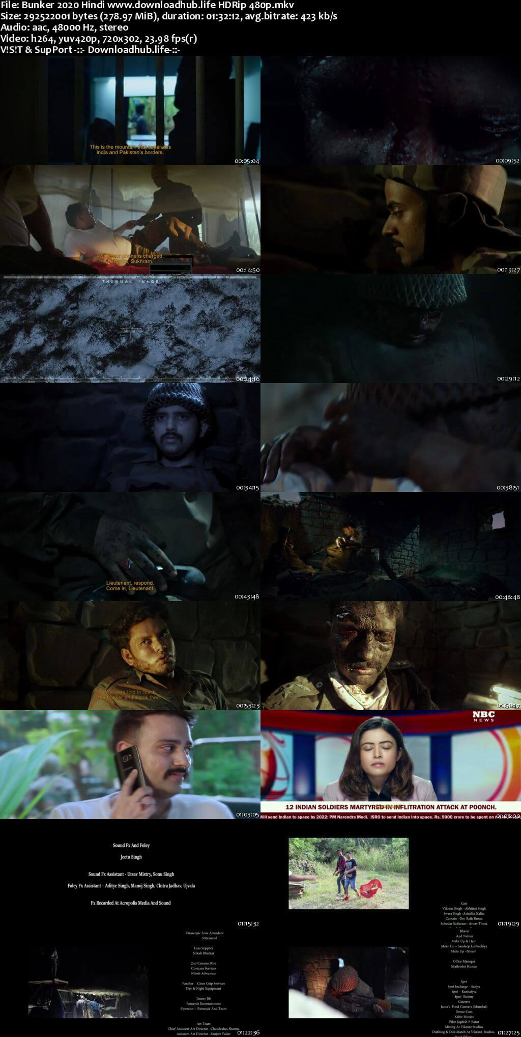 Bunker 2020 Hindi 280MB HDRip 480p
