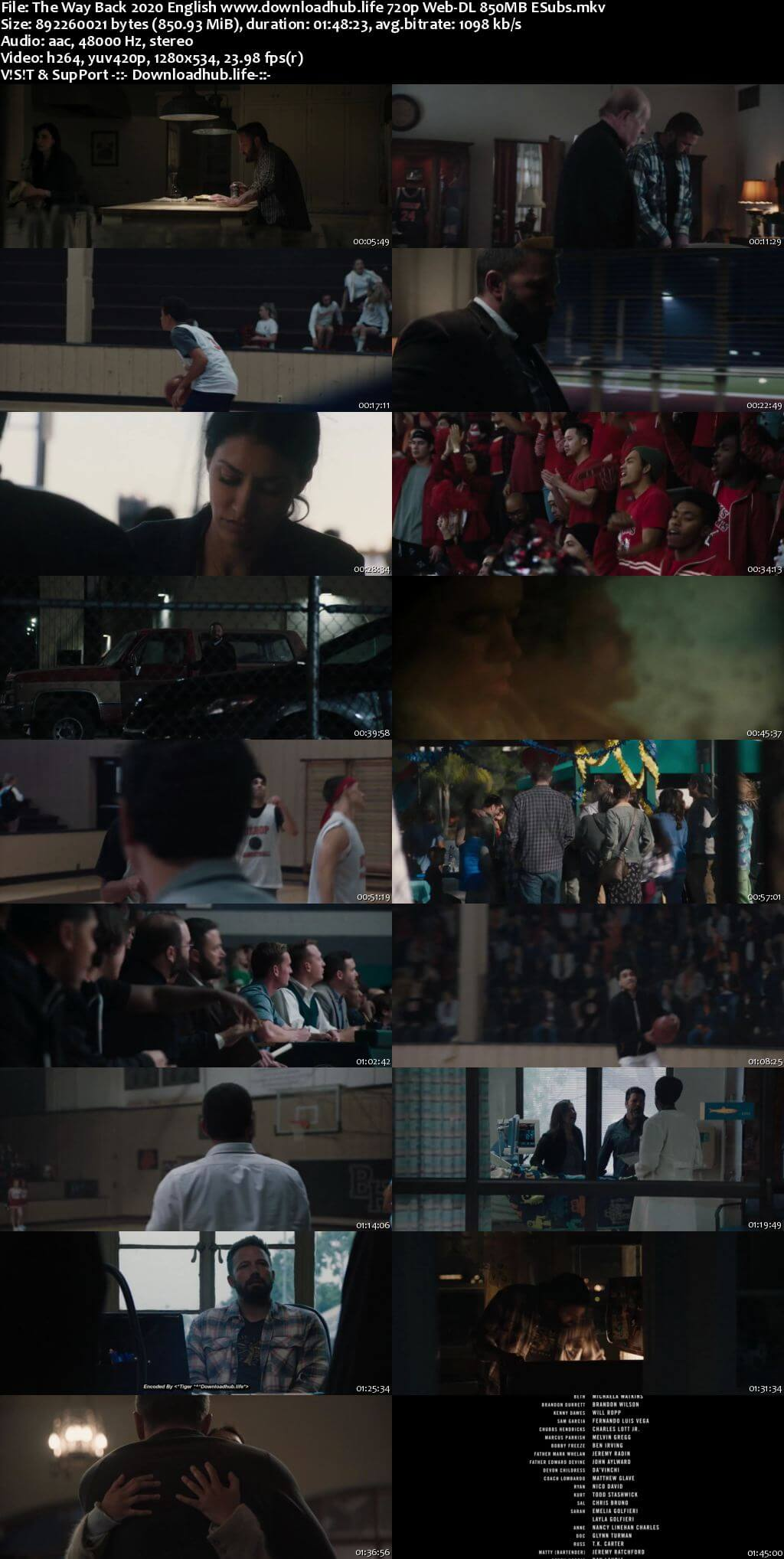 The Way Back 2020 English 720p Web-DL 850MB ESubs