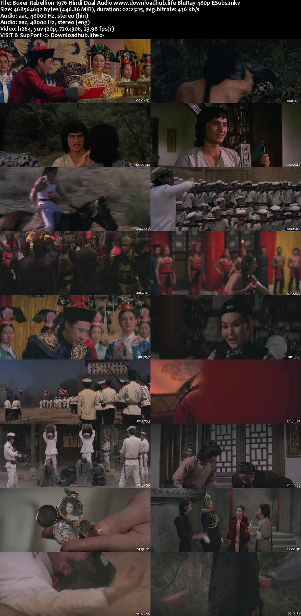 Boxer Rebellion 1976 Hindi Dual Audio 450MB BluRay 480p ESubs