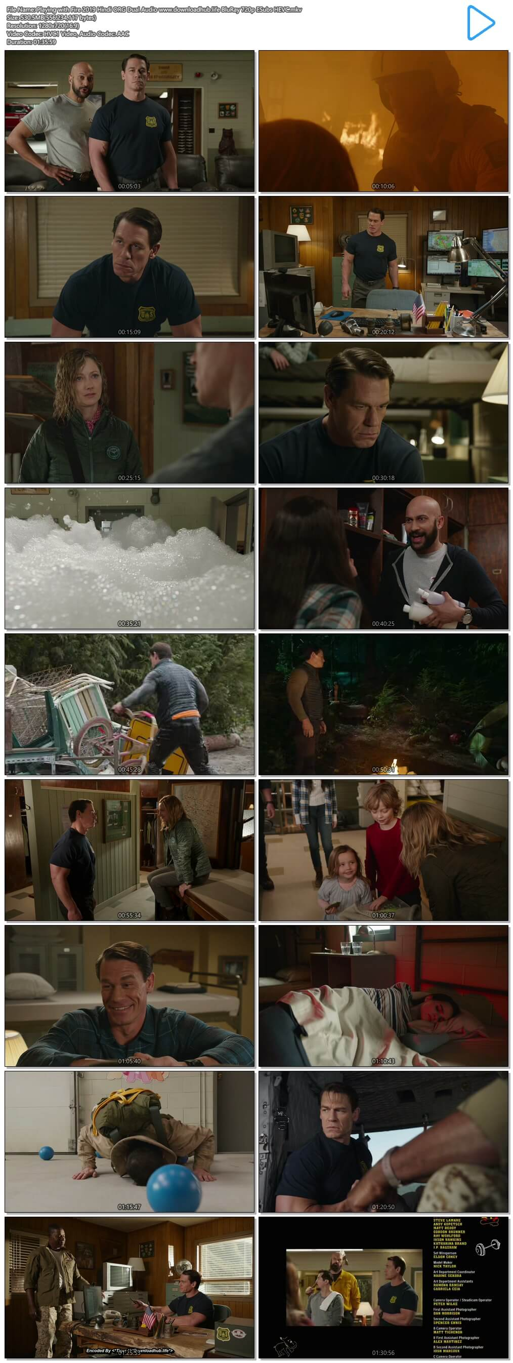 Playing with Fire 2019 Hindi ORG Dual Audio 500MB BluRay 720p ESubs HEVC