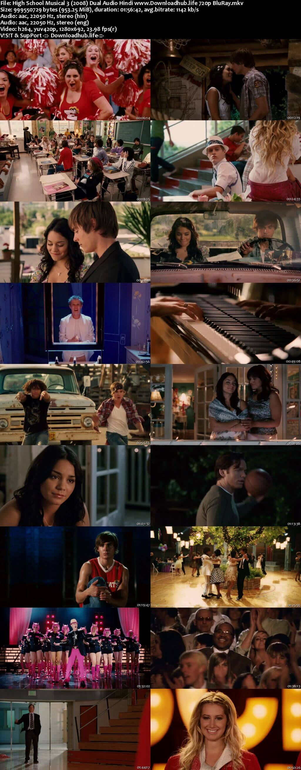 High School Musical 3 2008 Hindi Dual Audio 720p BluRay x264