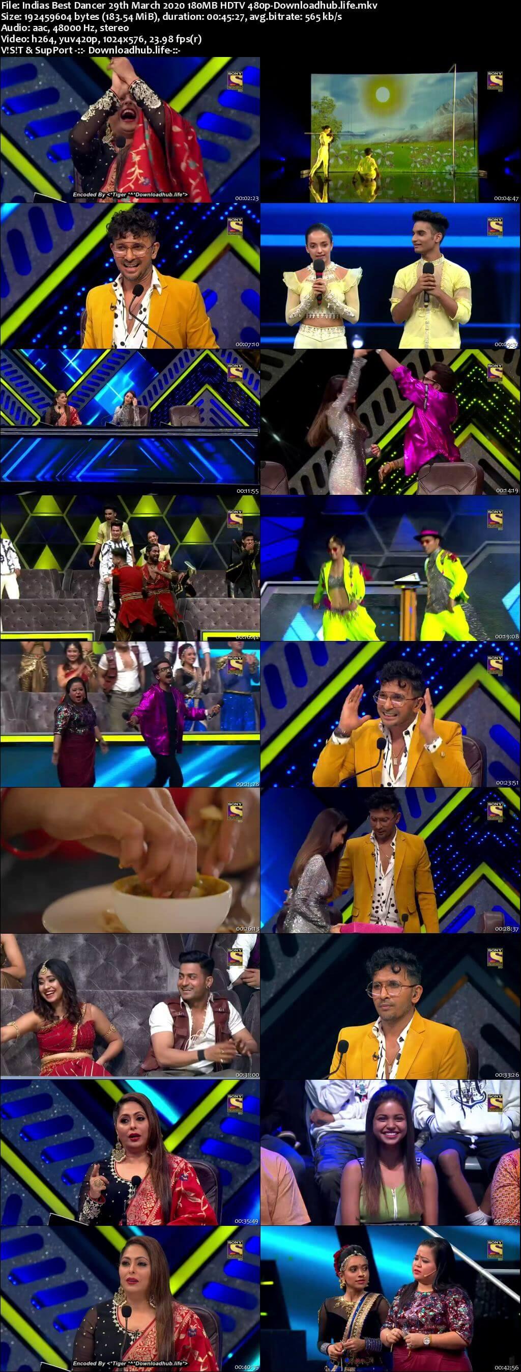 Indias Best Dancer 29 March 2020 Episode 10 HDTV 480p