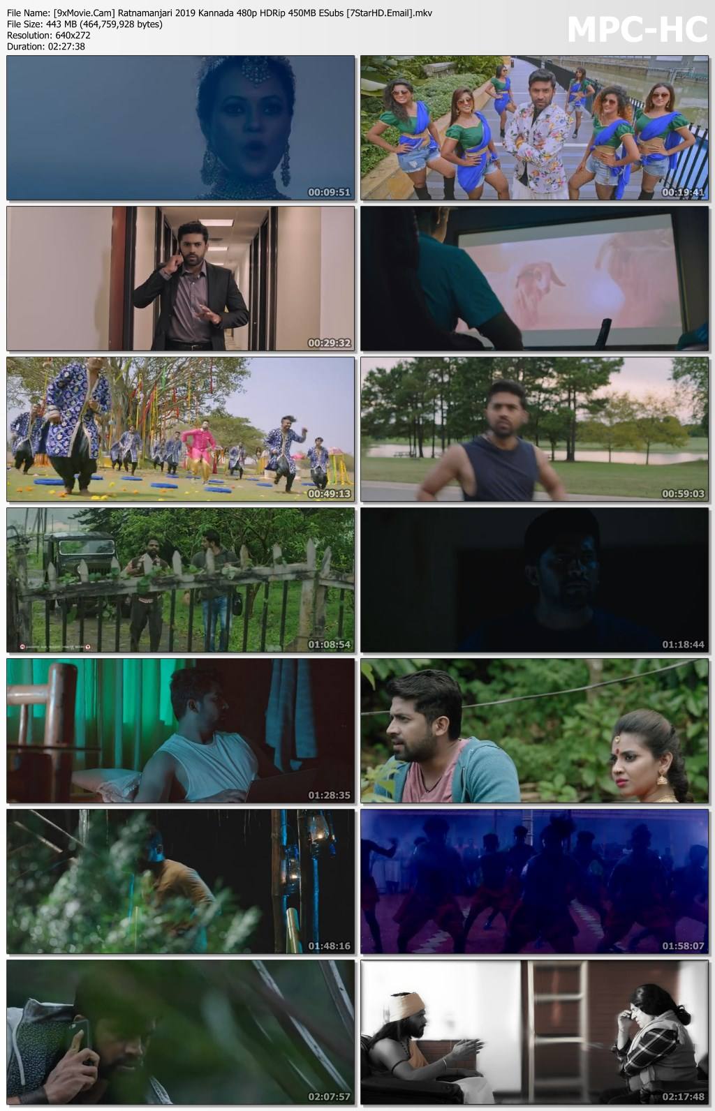 Ratnamanjari 2019 Kannada 480p HDRip x264 450MB ESubs