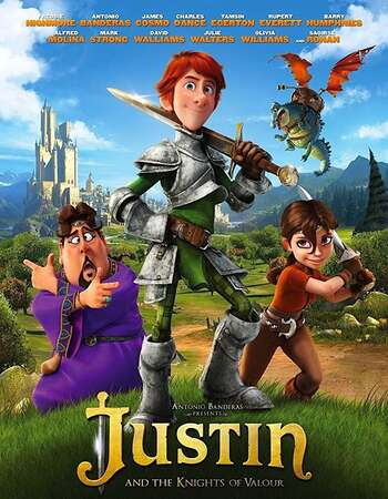 Justin and the Knights of Valour 2013 Hindi Dual Audio BRRip Full Movie 720p Download