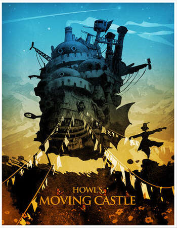 Howls Moving Castle 2004 Hindi Dual Audio 350MB BluRay 480p ESubs