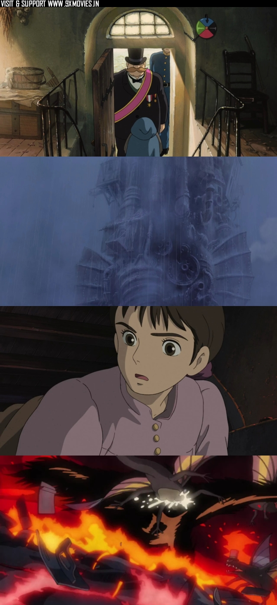 Howls Moving Castle 2004 Dual Audio Hindi 480p BluRay 350mb