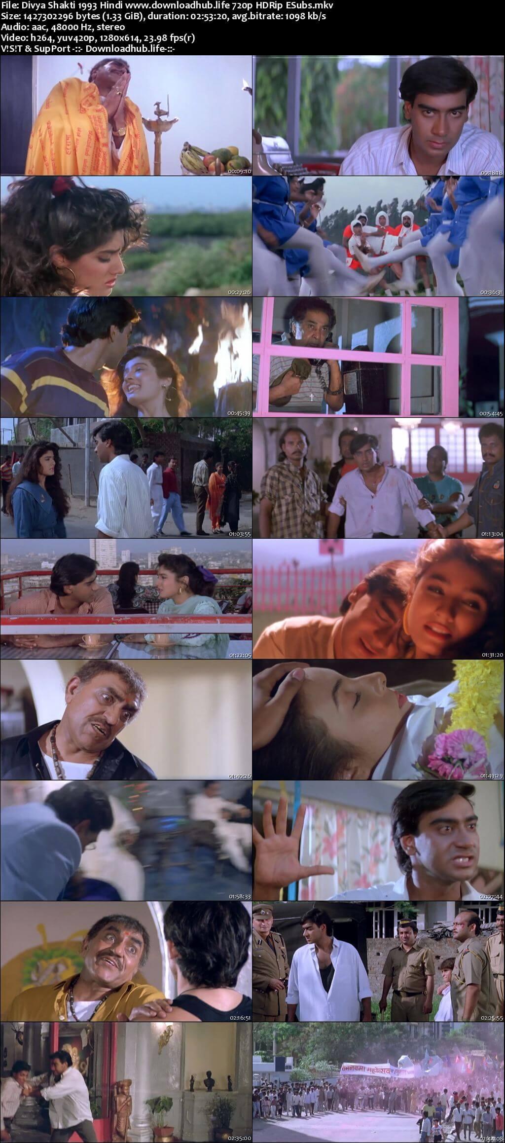 Divya Shakti 1993 Hindi 720p HDRip ESubs