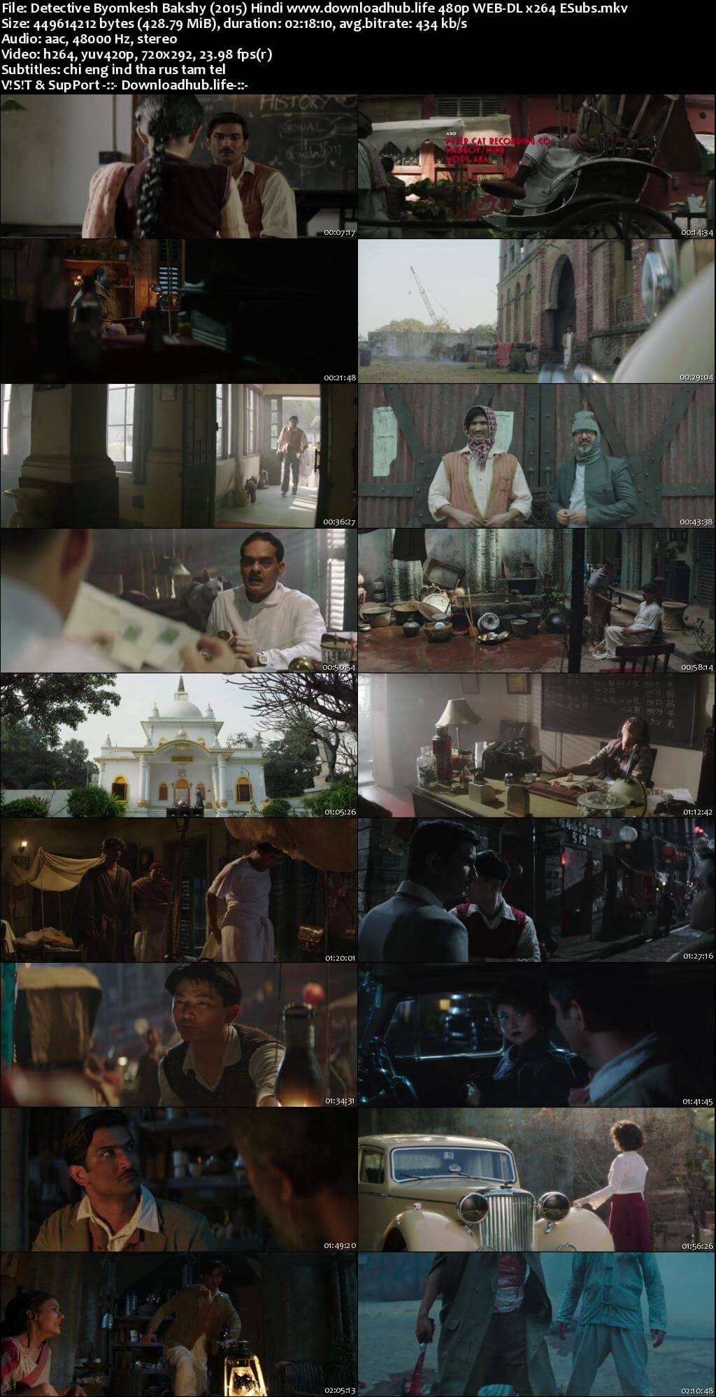Detective Byomkesh Bakshy 2015 Hindi 400MB HDRip 480p MSubs