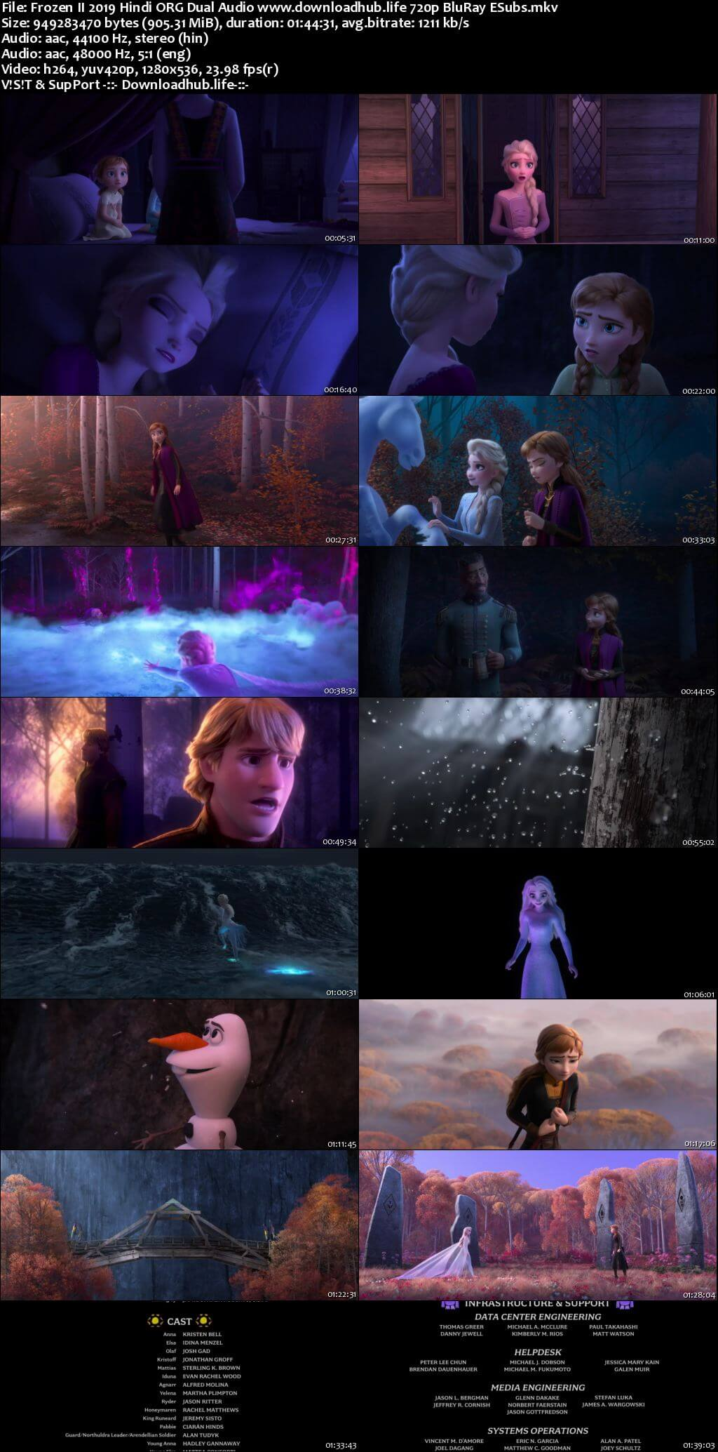 Frozen II 2019 Hindi ORG Dual Audio 720p BluRay ESubs