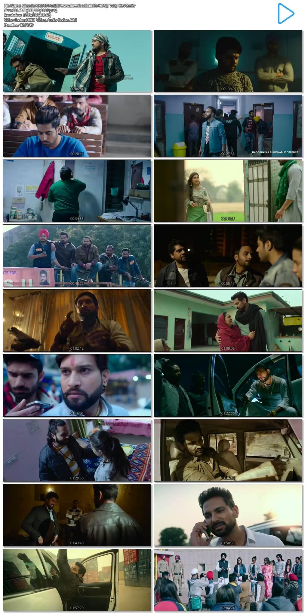 Sikander 2 2019 Punjabi 650MB HDRip 720p HEVC