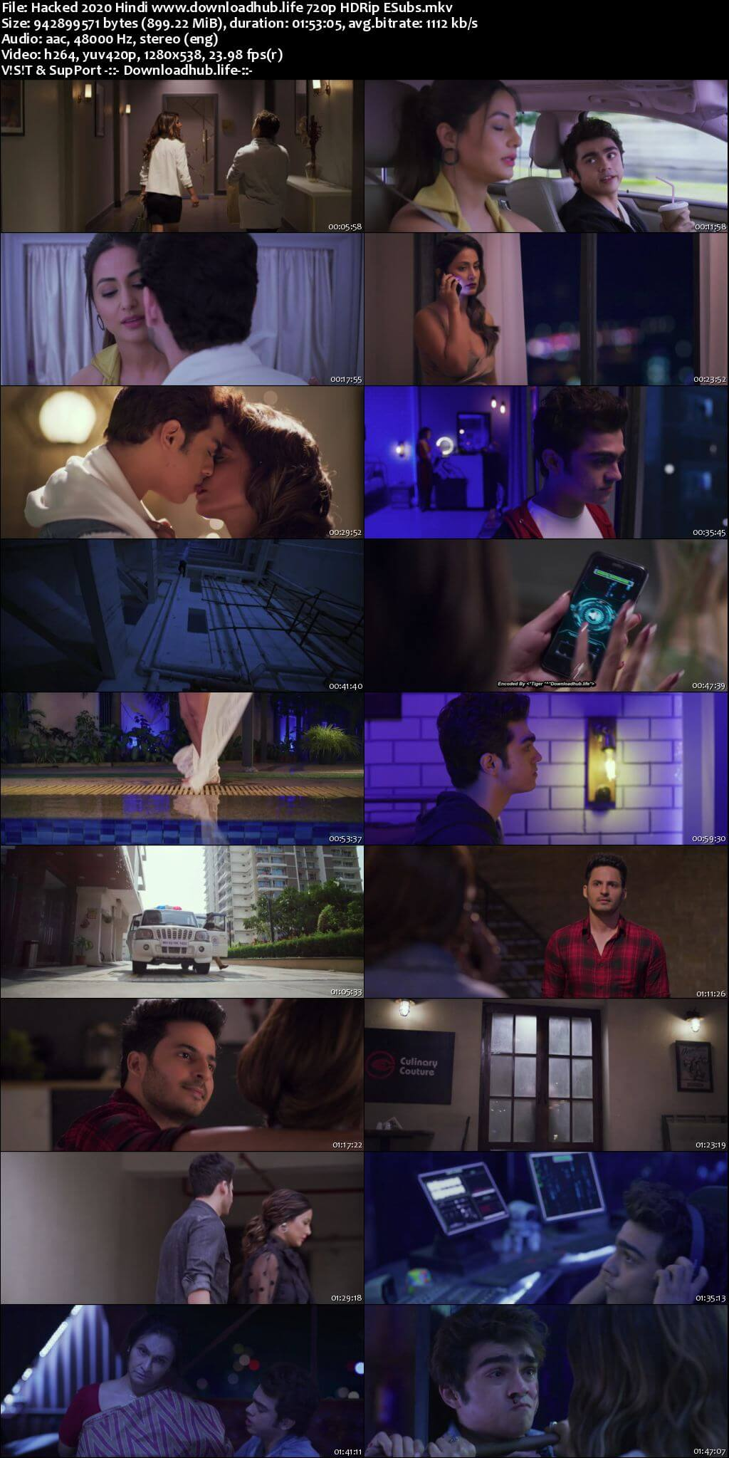 Hacked 2020 Hindi 720p HDRip ESubs