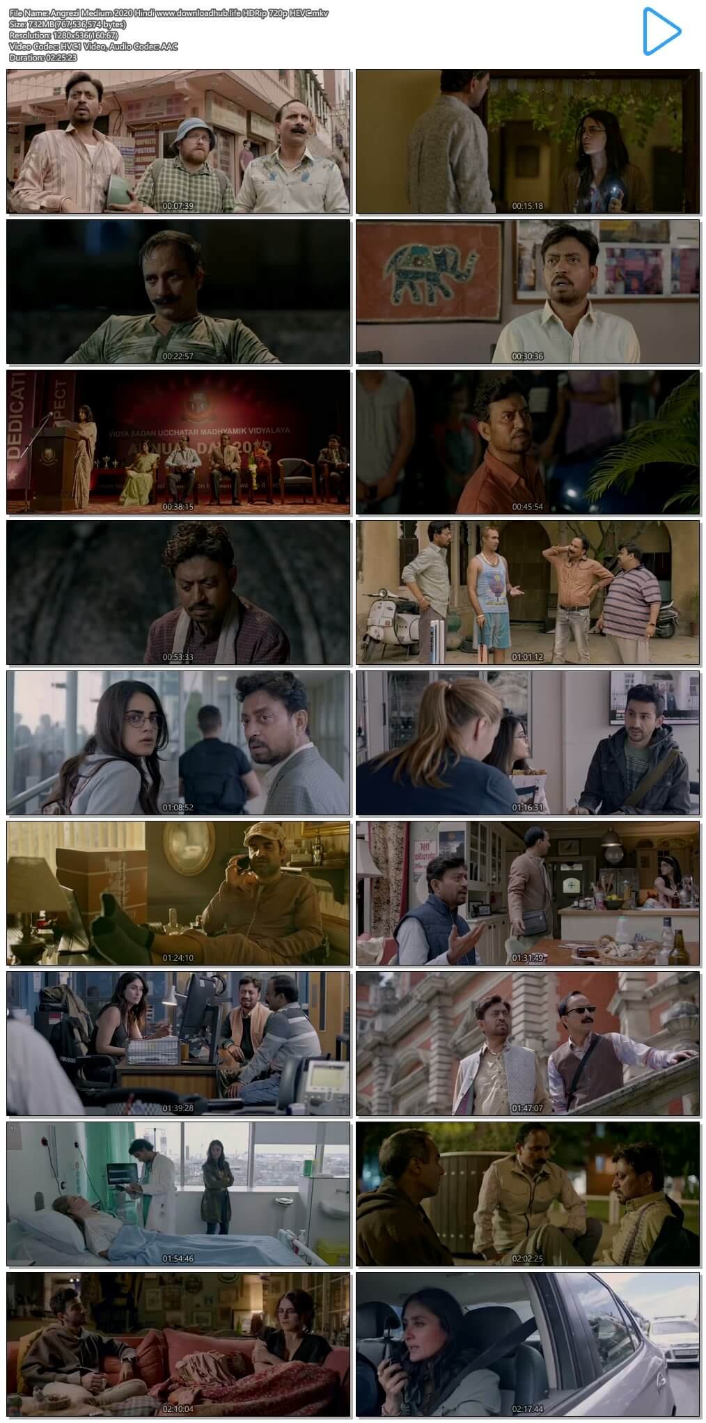 Angrezi Medium 2020 Hindi 700MB HDRip 720p HEVC