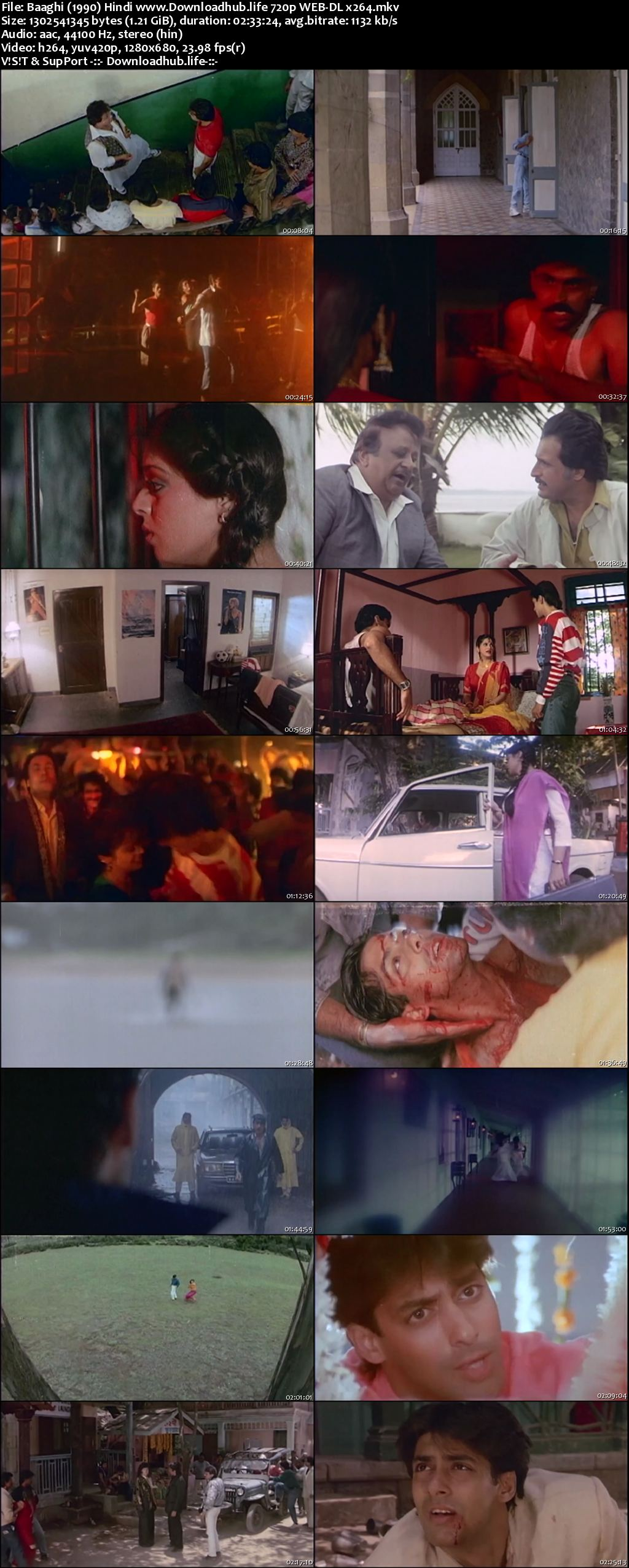 Baaghi A Rebel for Love 1990 Hindi 720p HDRip x264