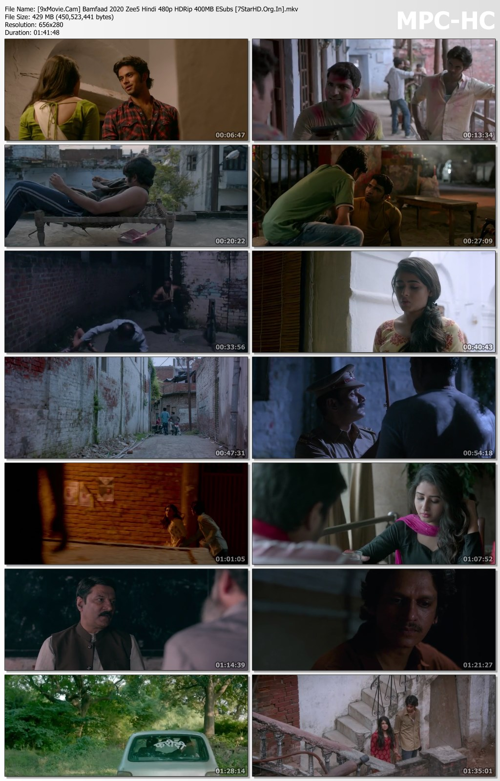Bamfaad 2020 Zee5 Hindi 480p HDRip x264 400MB ESubs