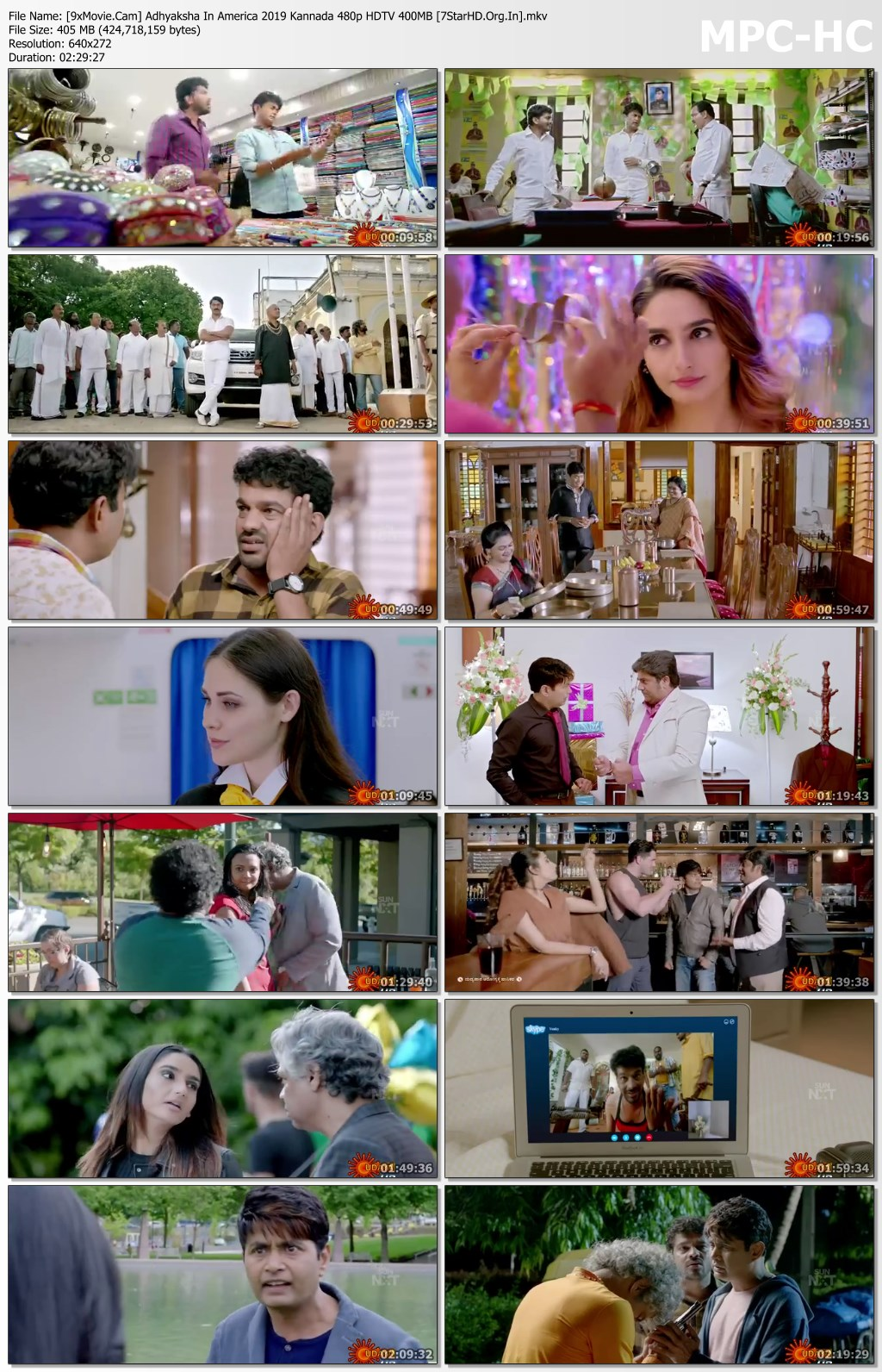 Adhyaksha In America 2019 Kannada 480p HDTV x264 400MB