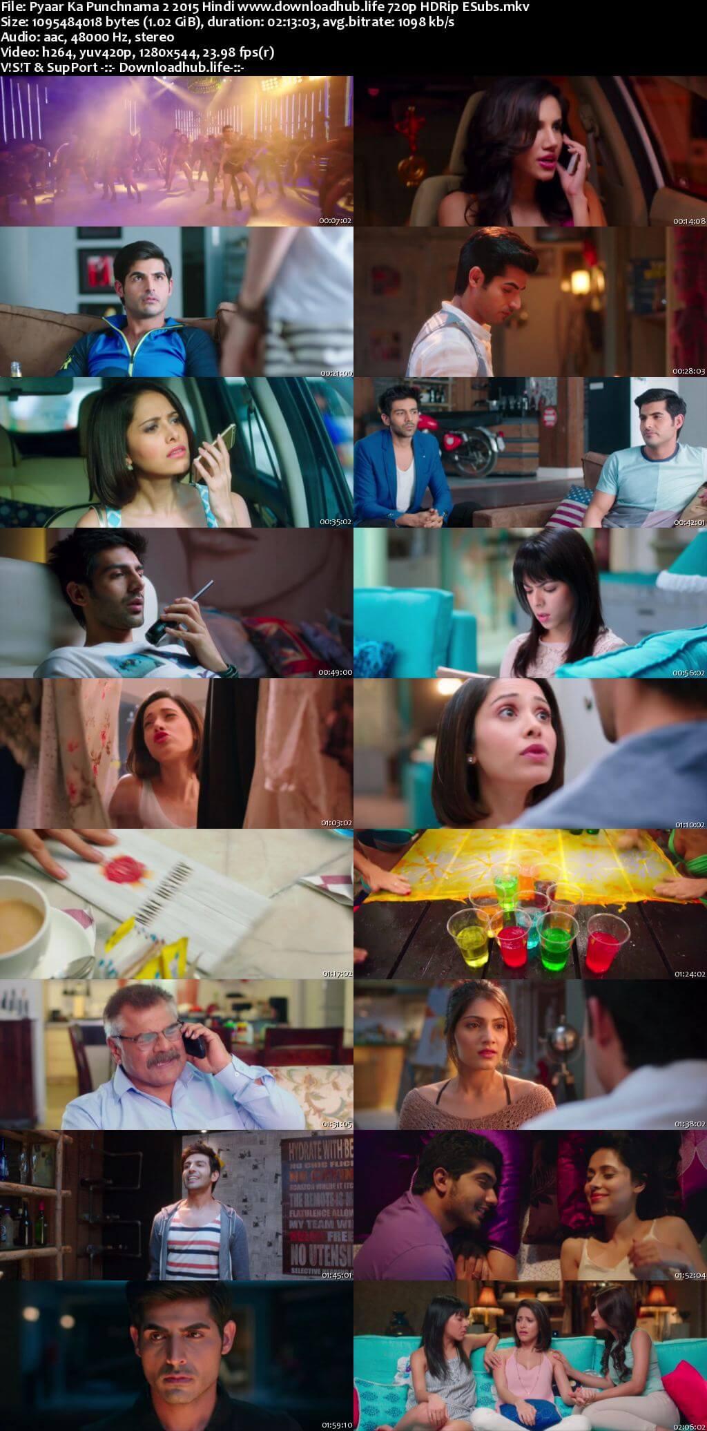 Pyaar Ka Punchnama 2 2015 Hindi 720p HDRip ESubs
