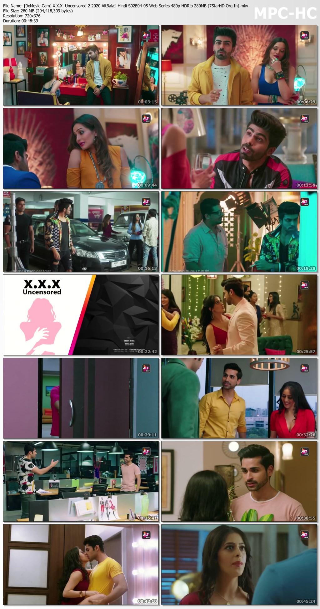 X.X.X. Uncensored 2 2020 AltBalaji Hindi S02E04-05 Web Series 480p HDRip x264 280MB