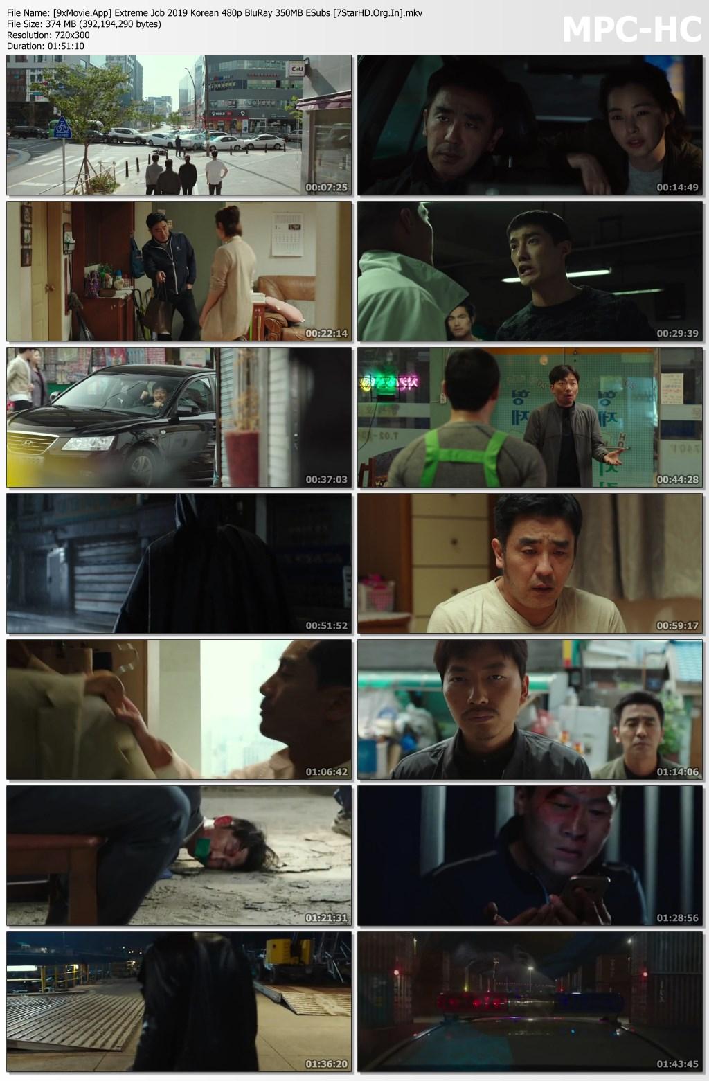 Extreme Job 2019 Korean 480p BluRay x264 350MB ESubs