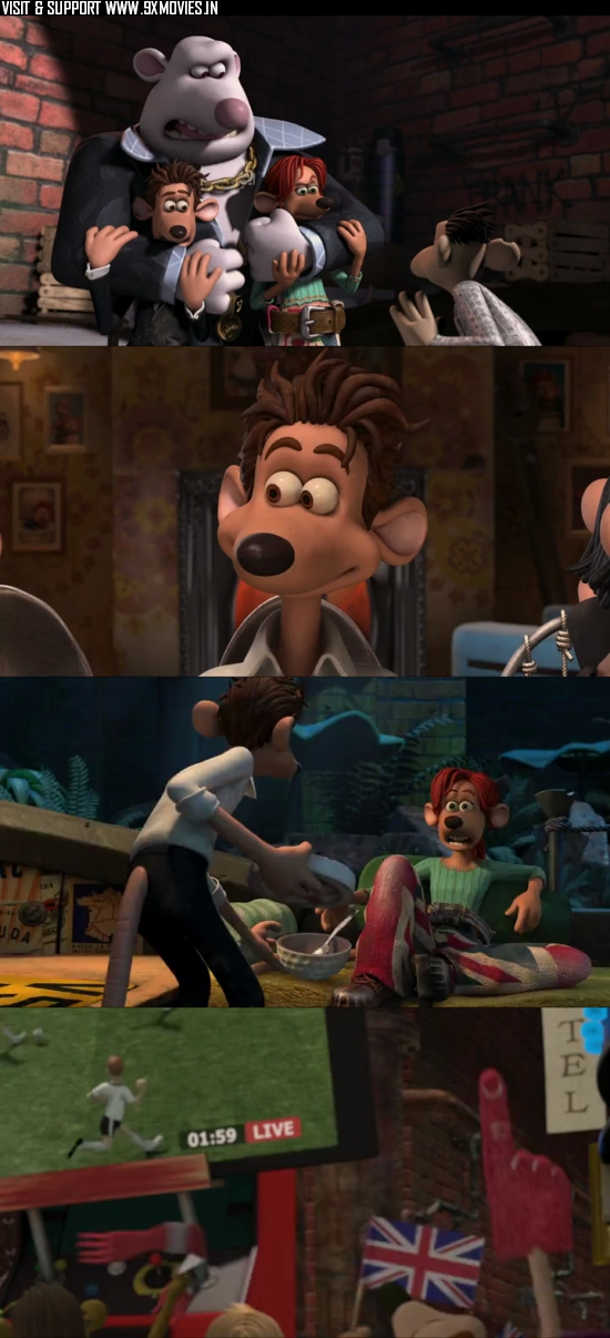 Flushed Away 2006 Dual Audio Hindi 480p BluRay 250MB