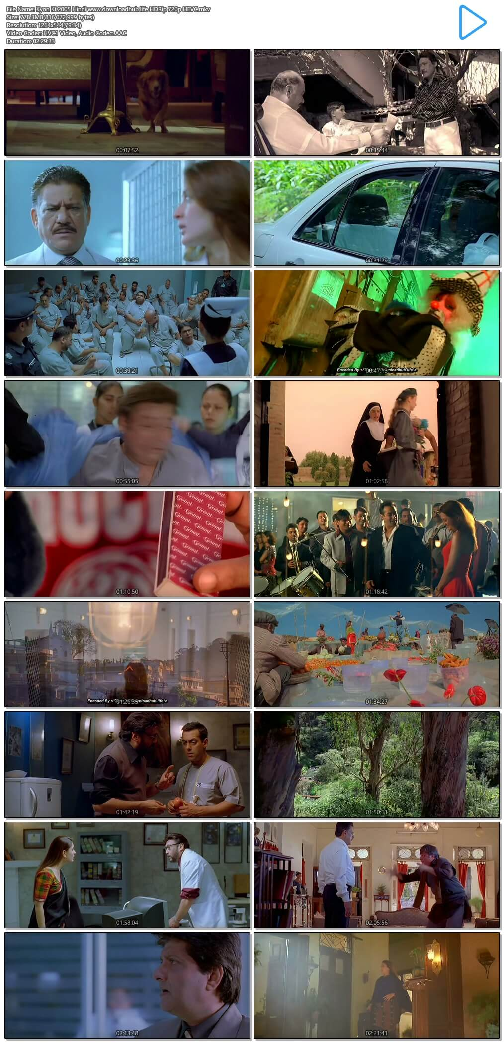 Kyon Ki 2005 Hindi 750MB HDRip 720p HEVC