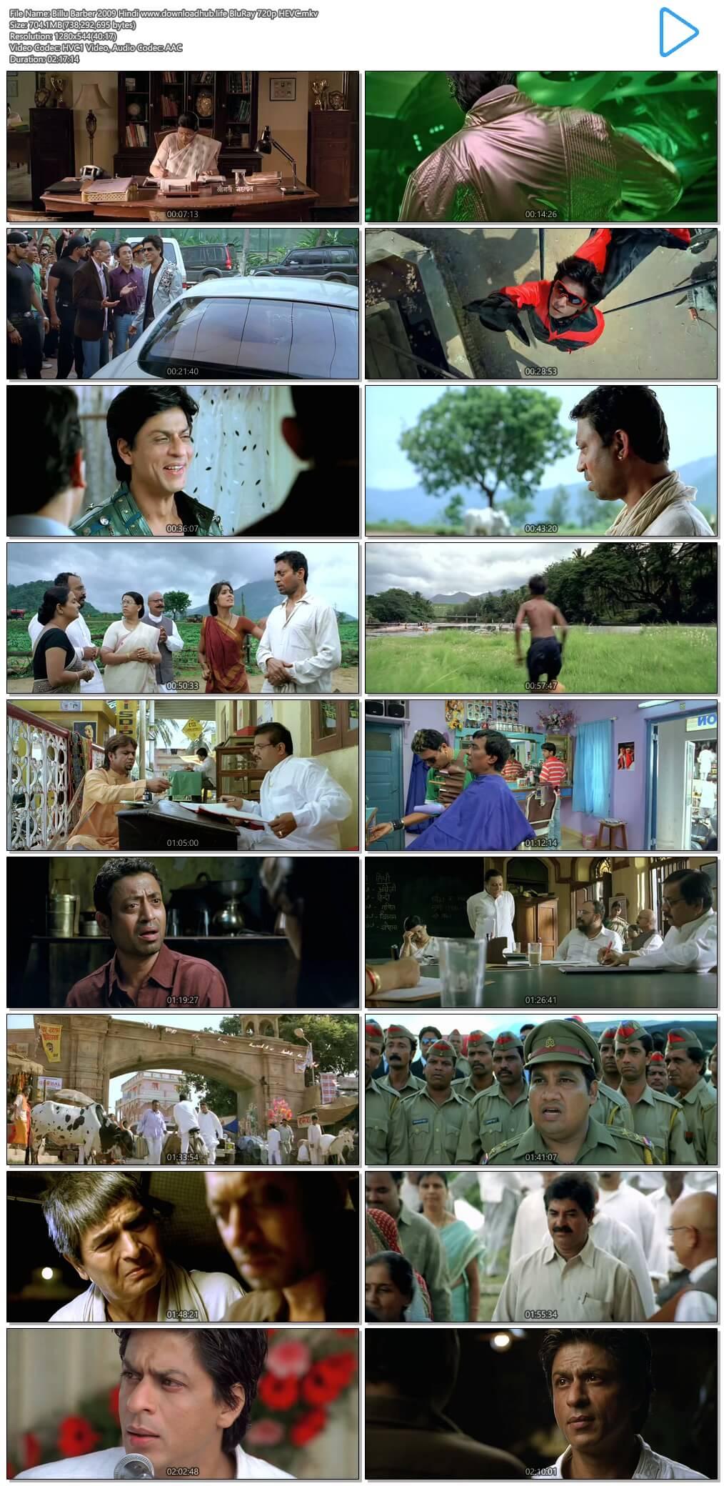 Billu Barber 2009 Hindi 700MB BluRay 720p HEVC