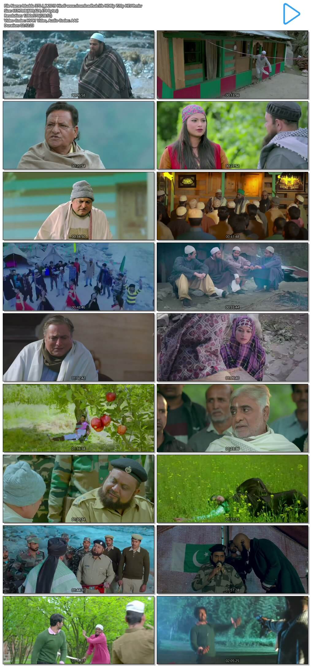 Mudda 370 J&K 2019 Hindi 650MB HDRip 720p HEVC