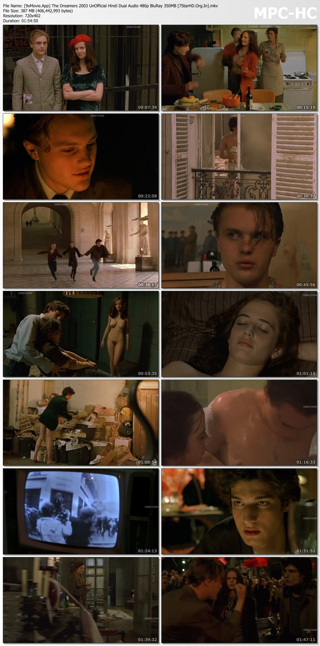 The Dreamers 2003 UnOfficial Hindi Dual Audio 480p BluRay x264 350MB