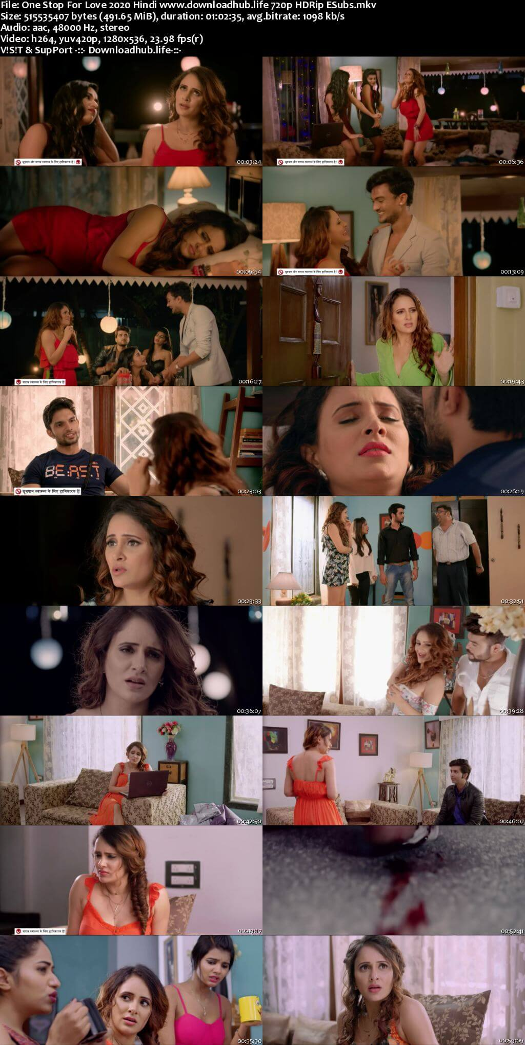 One Stop For Love 2020 Hindi 720p HDRip ESubs