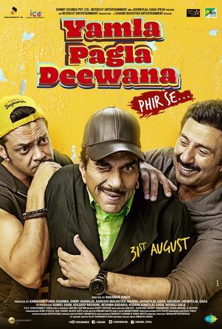 Yamla Pagla Deewana Phir Se 2018 Hindi 480p HDRip x264 400MB