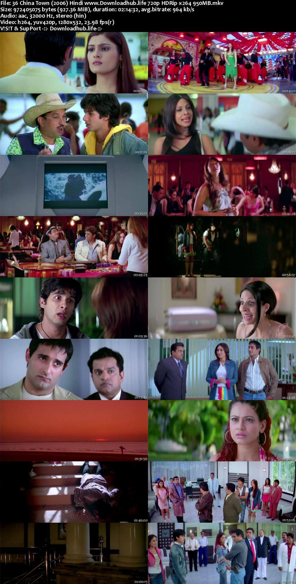 36 China Town 2006 Hindi 720p HDRip x264
