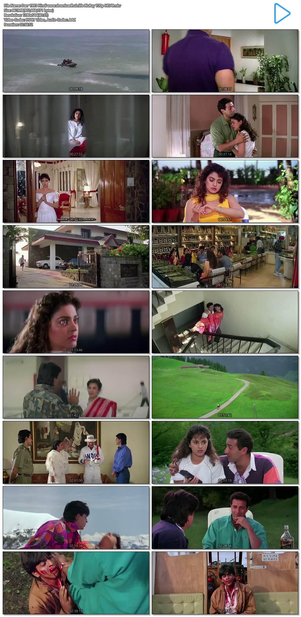 Darr 1993 Hindi 850MB BluRay 720p HEVC