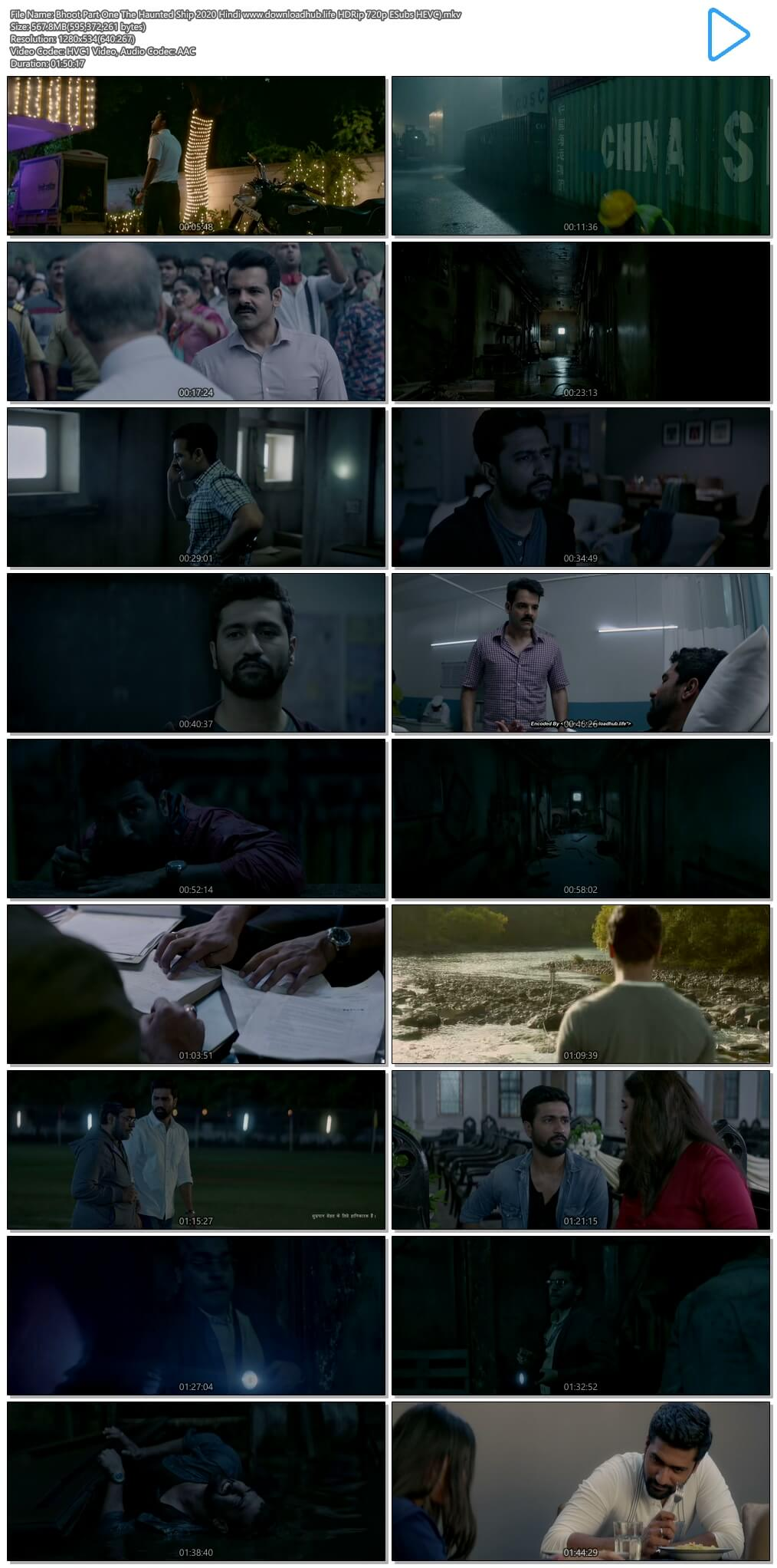 Bhoot Part One The Haunted Ship 2020 Hindi 550MB HDRip 720p ESubs HEVC