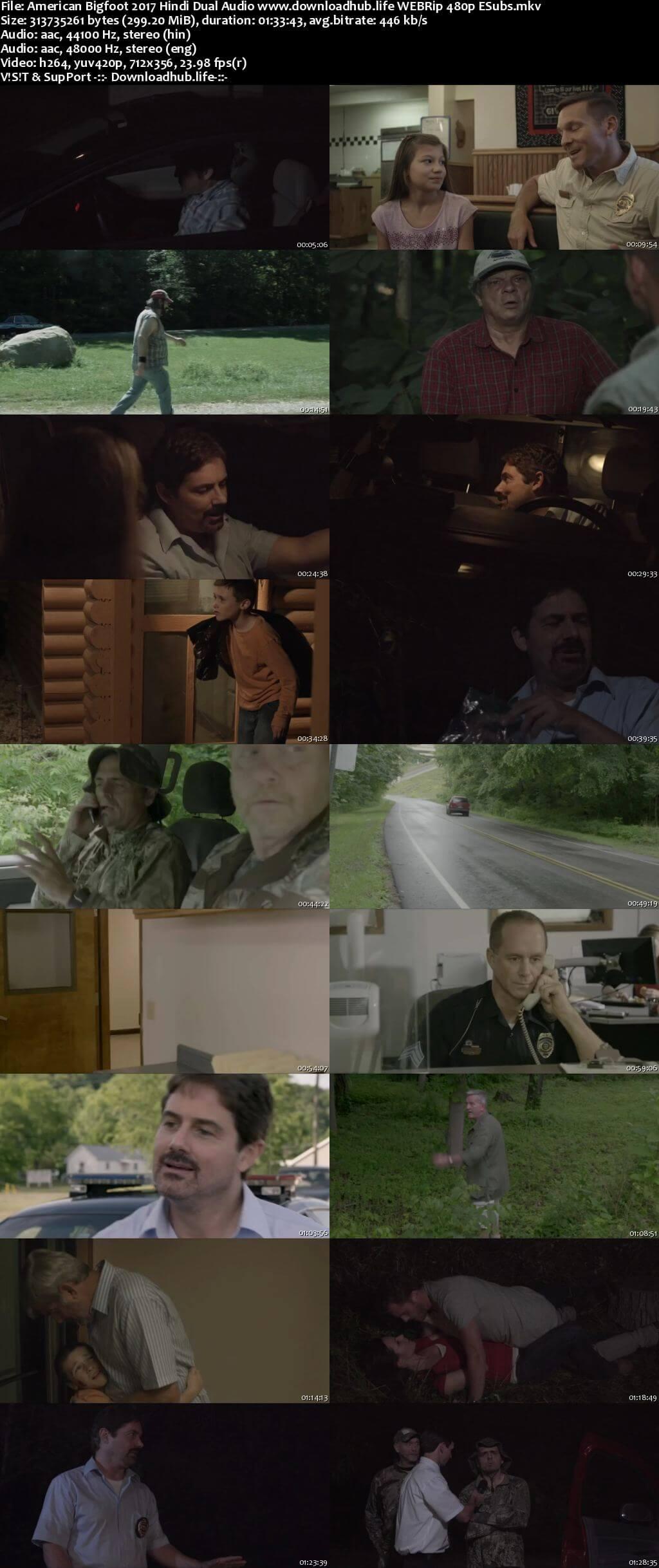 American Bigfoot 2017 Hindi Dual Audio 300MB WEBRip 480p ESubs