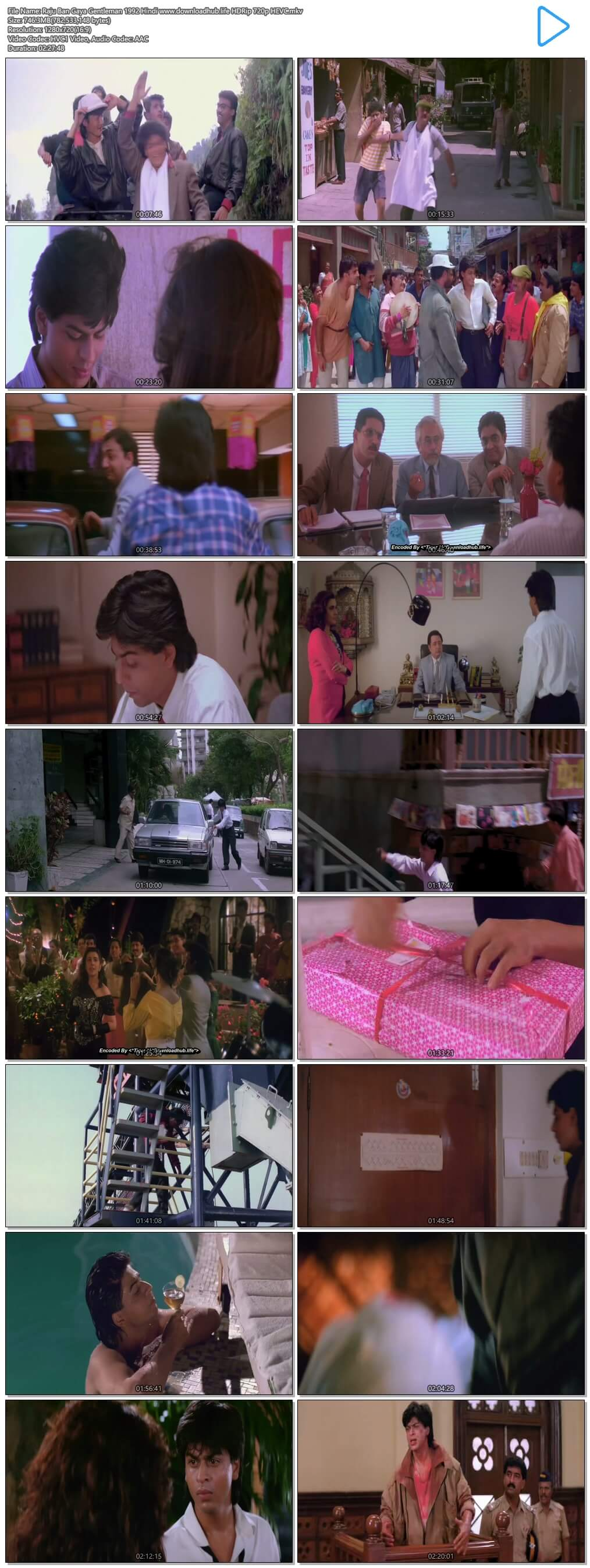 Raju Ban Gaya Gentleman 1992 Hindi 750MB HDRip 720p HEVC