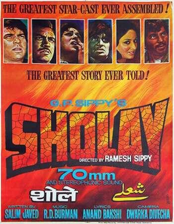 Sholay 1975 Full Hindi Movie 720p HEVC HDRip Download