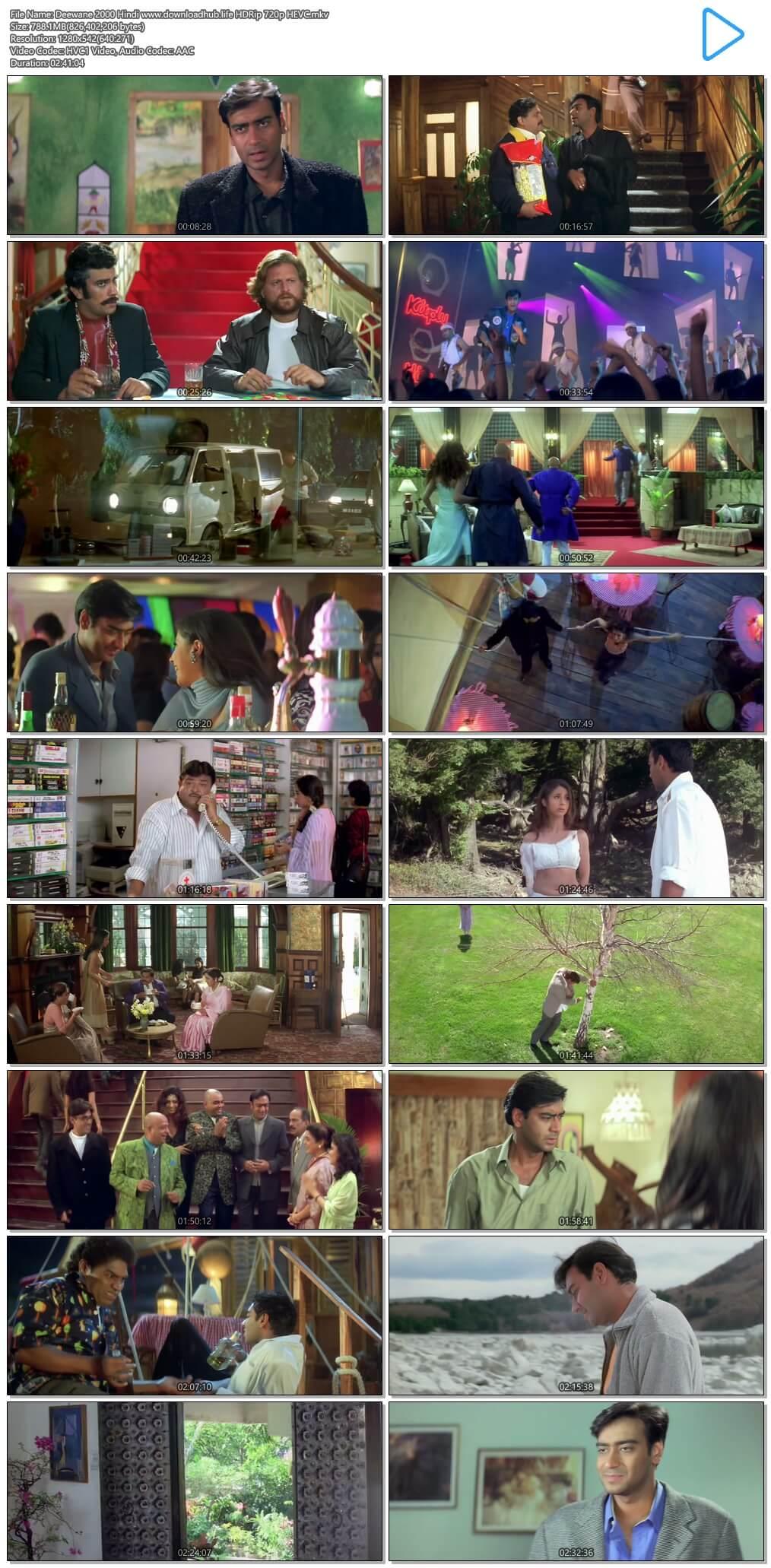 Deewane 2000 Hindi 750MB HDRip 720p HEVC