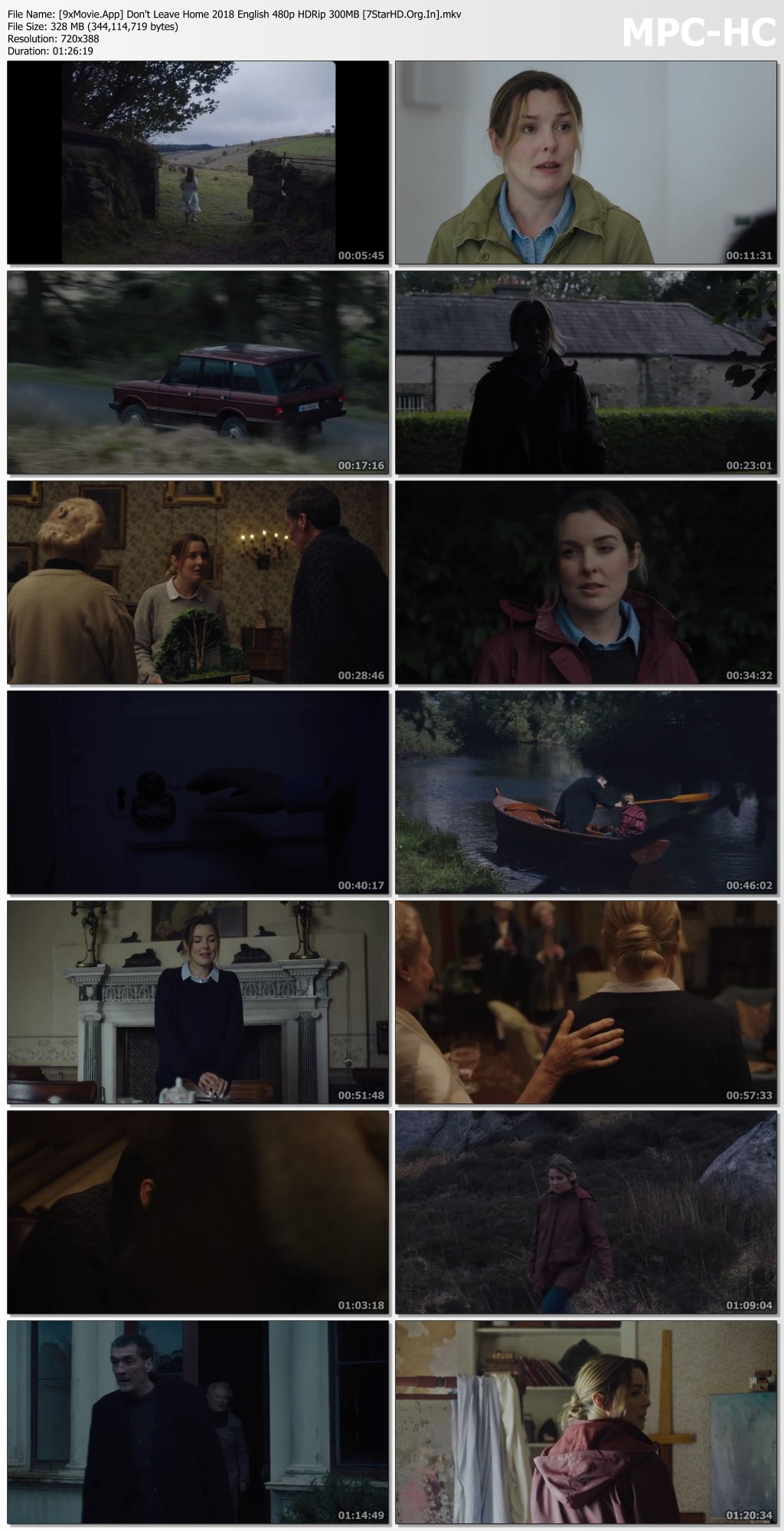Don't Leave Home 2018 English 480p HDRip x264 300MB