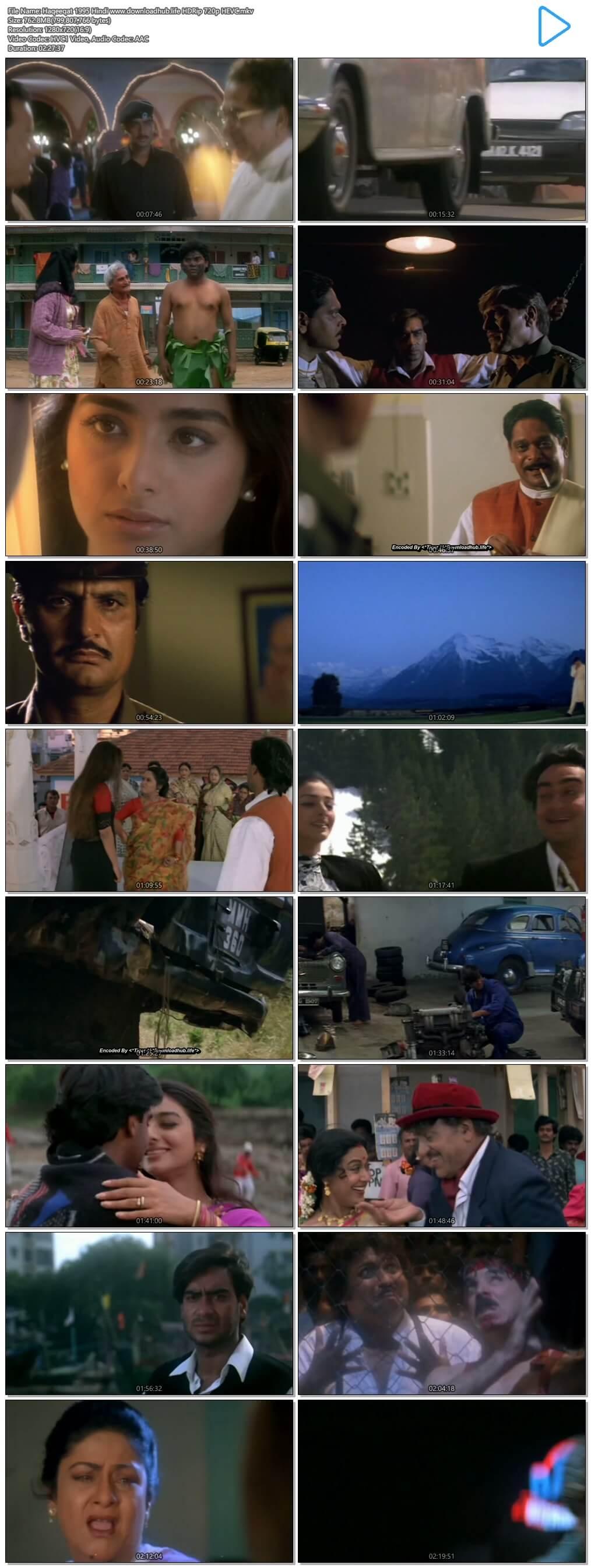 Haqeeqat 1995 Hindi 750MB HDRip 720p HEVC