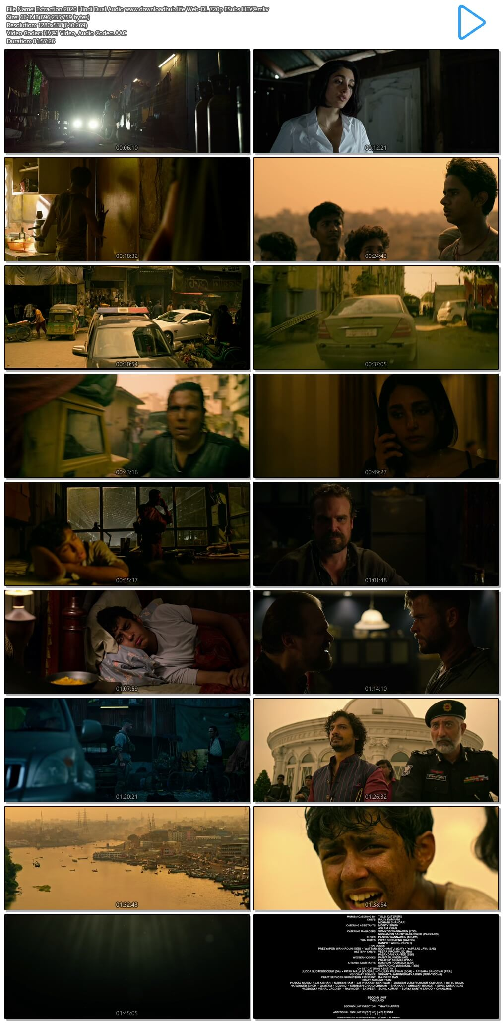 Extraction 2020 Hindi Dual Audio 650MB Web-DL 720p ESubs HEVC