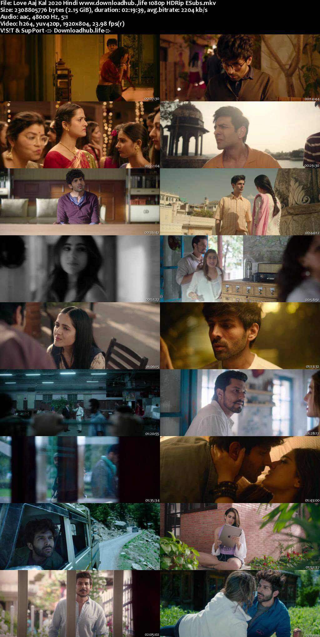 Love Aaj Kal 2020 Hindi 1080p HDRip ESubs