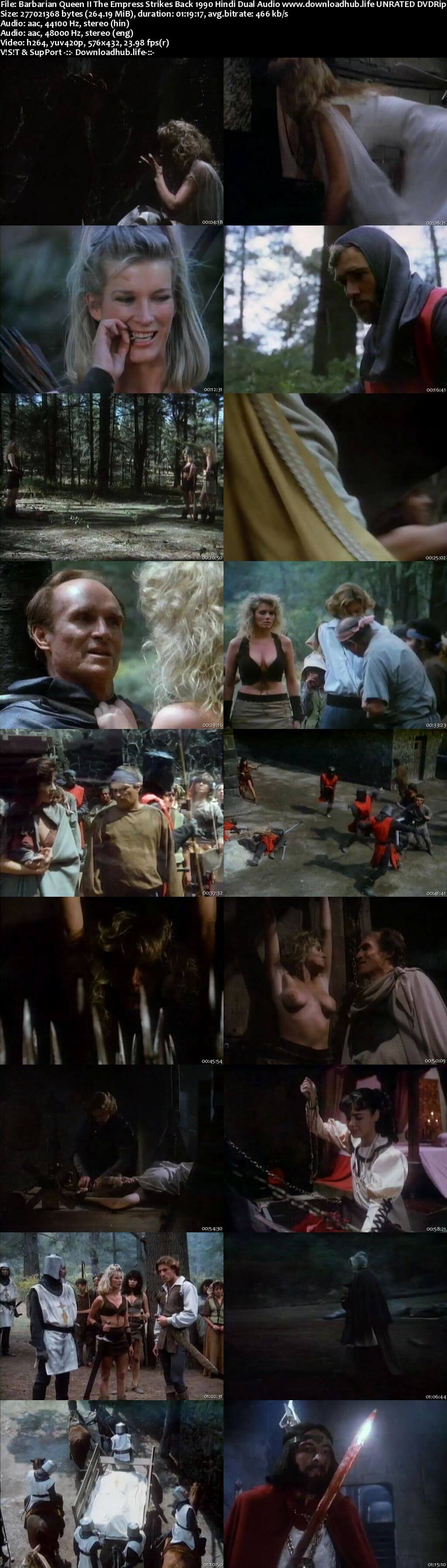 Barbarian Queen II The Empress Strikes Back 1990 Hindi Dual Audio 250MB UNRATED DVDRip 480p
