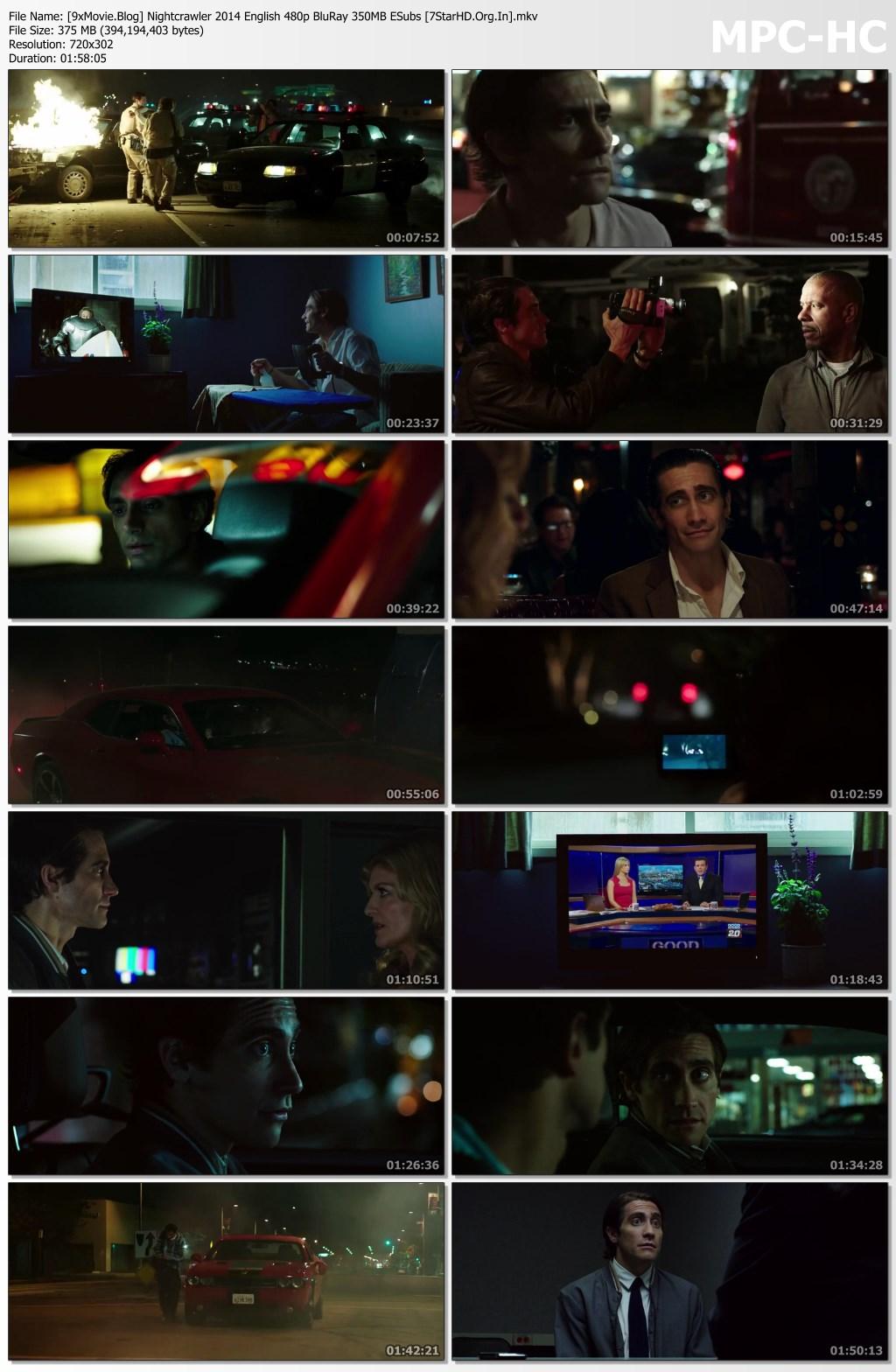 Nightcrawler 2014 English 480p BluRay x264 350MB ESubs