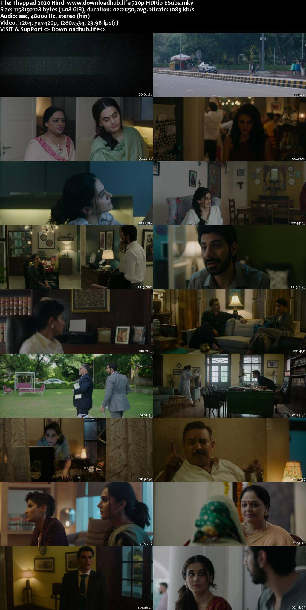 Thappad 2020 Hindi 720p HDRip ESubs