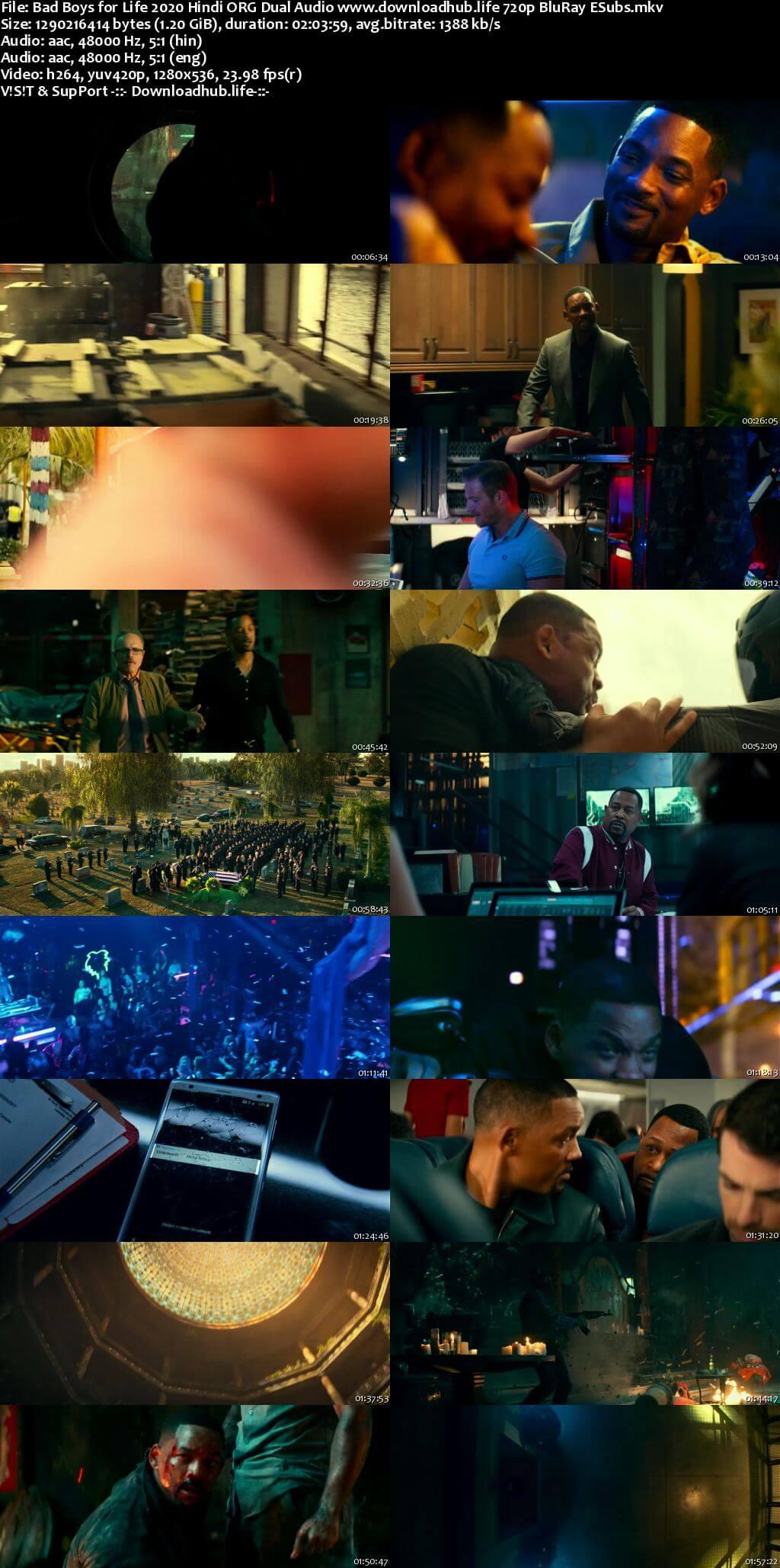 Bad Boys for Life 2020 Hindi ORG Dual Audio 720p BluRay ESubs