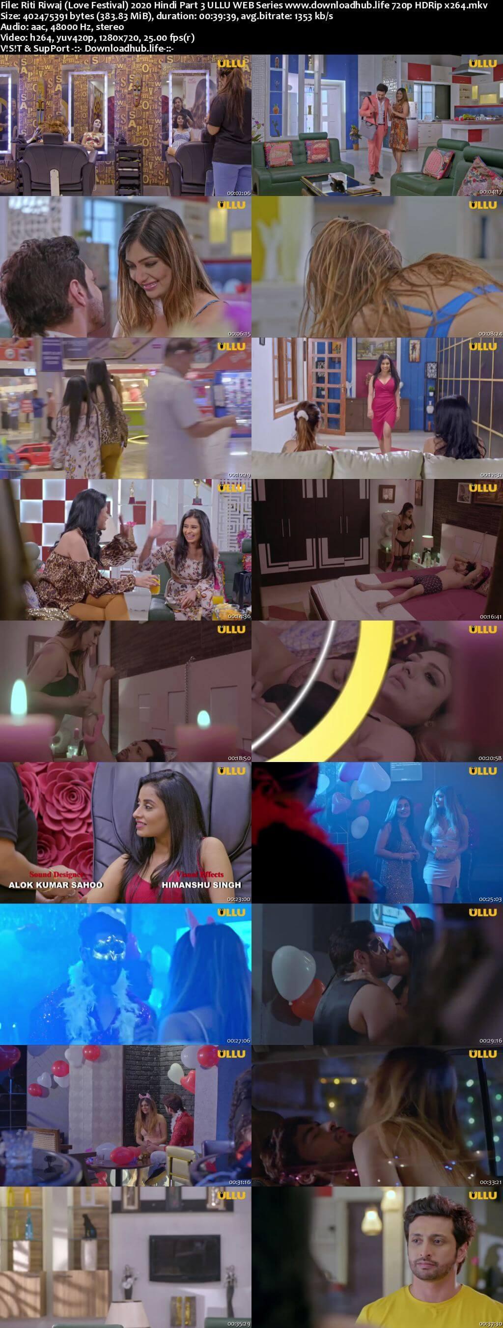 Riti Riwaj (Love Festival) 2020 Hindi Part 3 ULLU WEB Series 720p HDRip x264