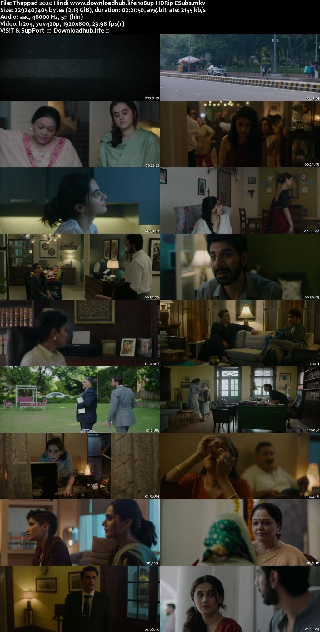 Thappad 2020 Hindi 1080p HDRip ESubs