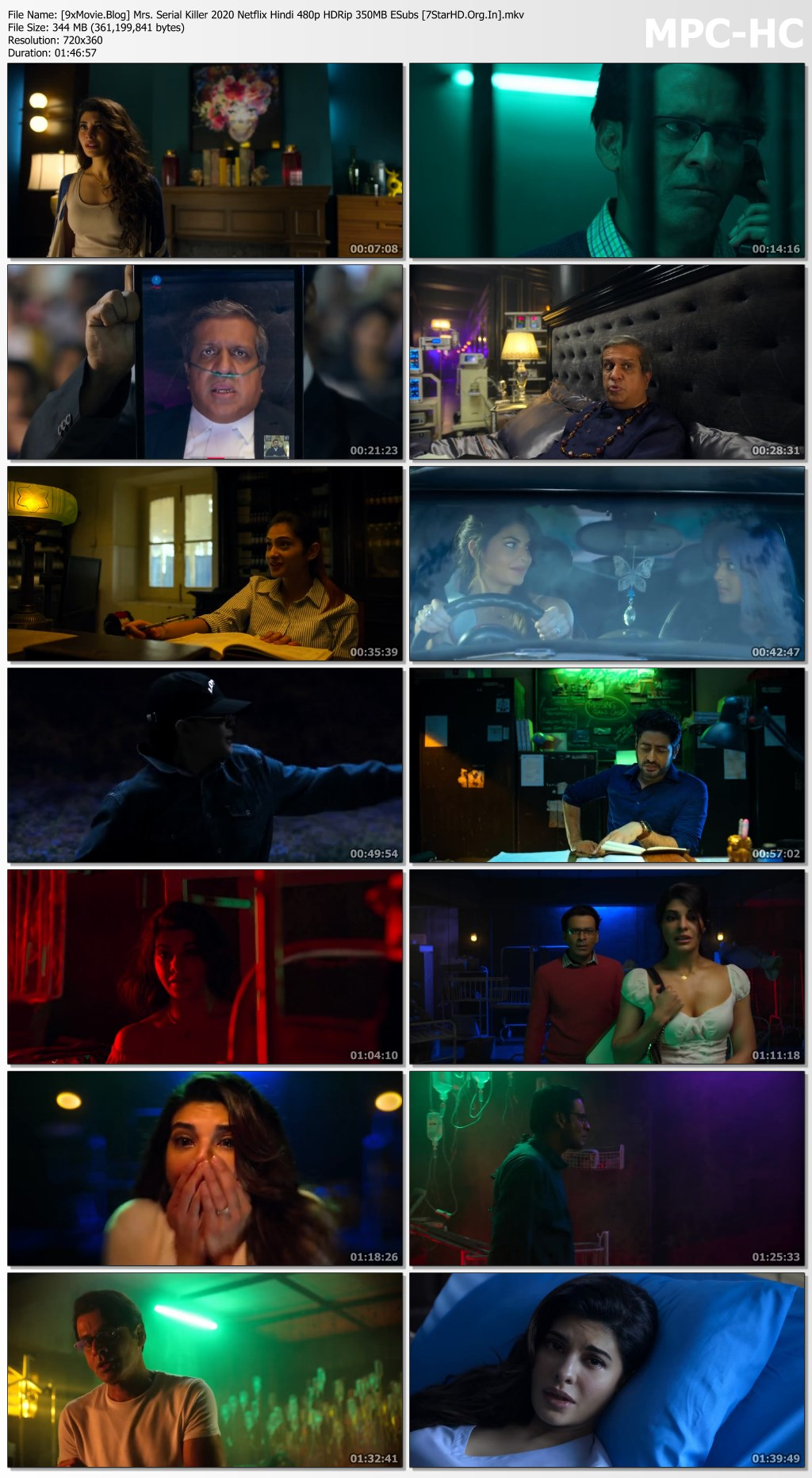 Mrs. Serial Killer 2020 Netflix Hindi 480p HDRip x264 350MB ESubs