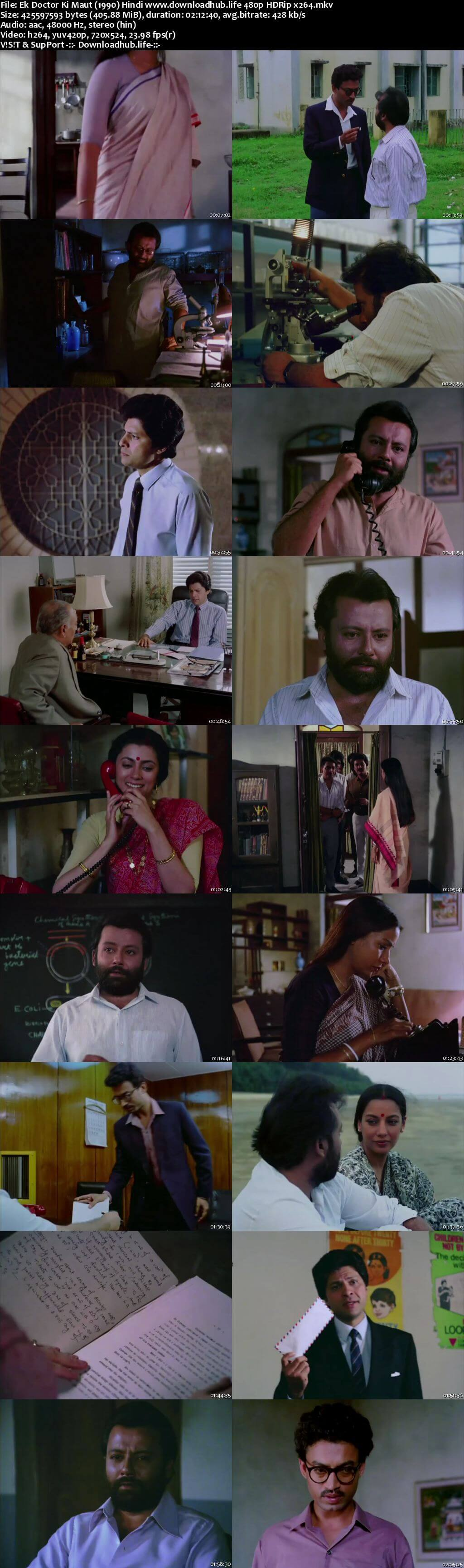 Ek Doctor Ki Maut 1990 Hindi 400MB HDRip 480p