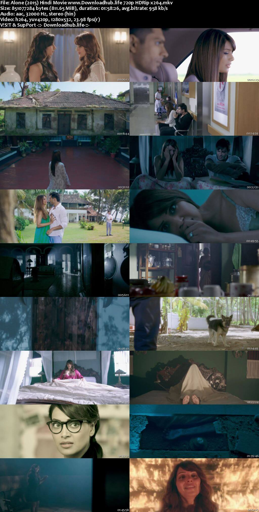 Alone 2015 Hindi 720p HDRip x264